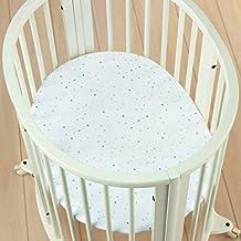 aden + anais Stokke Collection Mini Crib Sheet, Night Sky