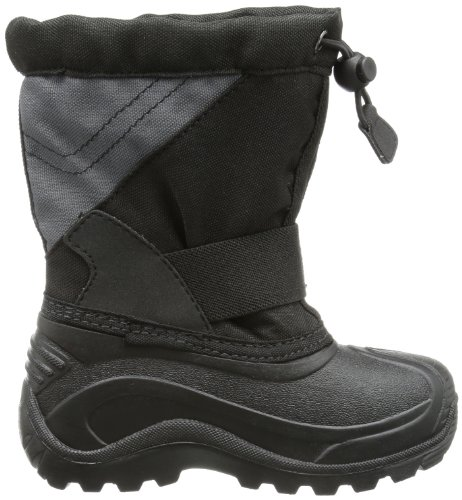 Kamik Unisex-Kinder Snowtraxg Schneestiefel Schwarz (BLK-BLACK)