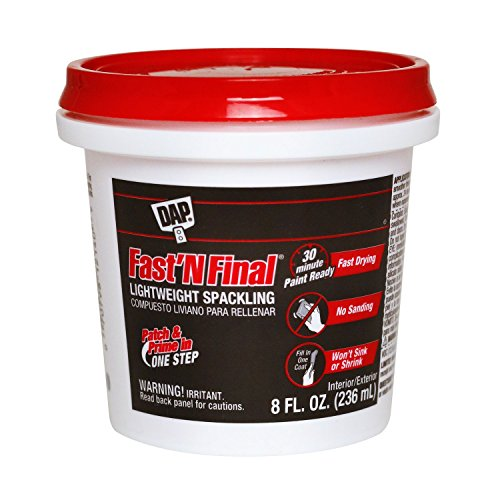 Dap 12140 Fast N Final Interior Exterior Spackle, 1/2-Pint (Wall Spackle Kit Repair)
