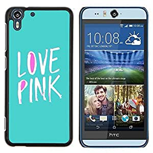 Stuss Case / Funda Carcasa protectora - Violet texte Vert Blanc Teal - HTC Desire Eye M910x
