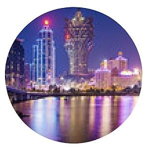 alfombrilla de ratón Macao, China - ronda - 20cm