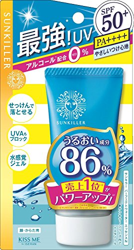 (Isehan JAPAN・Alcohol Free   Sunkiller Perfect Water Essence N 50 g SPF50 + PA ++++)