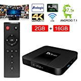 ESHOWEE Tanix Android 7.1 TV Box Amlogic S905W Quad-core 64 Bit DDR3 2GB 16GB 4K UHD WiFi and LaN VP9 DLNA H.265