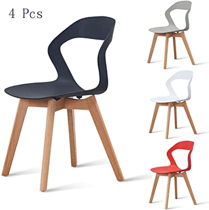 Sedie In Polipropilene Colorate.Qhxxtxjis Sedie Sala Da Pranzo Set Da 4 Pezzi Moderne Design