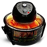 Geepas Turbo Halogen Oven 12 litres & Accessories | 60 Minutes Timer & Adjustable Temperature Dial | 1400W Convection Air Fryer Cooker | Ideal for Chicken Roast, Vegetables, Chips - 2 Years Warranty