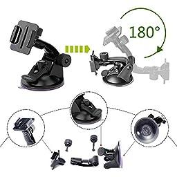 Luxebell Accessories Kit for AKASO EK5000 EK7000 4K WIFI Action Camera Gopro Hero 5/Session 5/Hero 4/3+/3/2/1 (18 Items)
