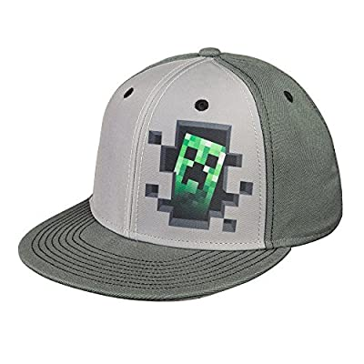 JINX Minecraft 'Creeper Inside' Adult Snapback Baseball Hat (Gray, Adult Size) by JINX