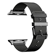 For Apple Watch Band 42mm, AGUARA Milanese Loop Stainless Steel Replacement iWatch Band Classic Buckle for Apple Watch Series 2, Series 1, Sport, Edition - 42mm Black