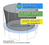 Nets For Trampoline Enclosures | By Trampoline Pro | Select Your Pole Type | Select Your Size, Shape, and Number of Poles | NETS ONLY (Top Ring Poles, 14ft Frame - 4 poles)
