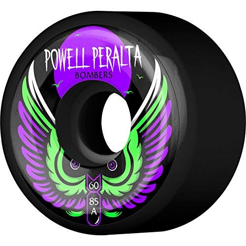 - Powell-Peralta Bomber III 85a 60mm Black Skateboard Wheels (Set of 4)