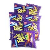 Takis Fuego Extreme Hot Chili Pepper & Lime Tortilla Chips- 90g (Pack of 7.) Face the Intensity!!!