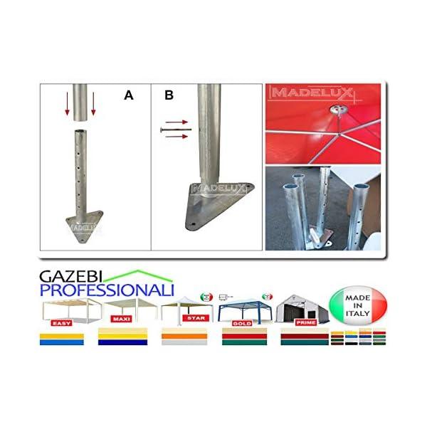 MadeluX Gazebo 6x6 Professionale Certificato e Personalizzabile Stand Eventi Pagoda ignifugo Padiglione pergola tettoia… 5 spesavip