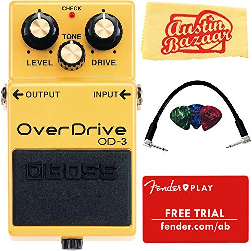 Pedal Bundle with Patch Cable, Picks, Fender Play Trial, and Austin Bazaar Polishing Cloth ()