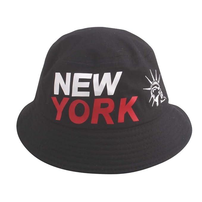 4df60385d70 Residen Women Men Unisex Packable Bucket Hat Outdoor Fisherman Hat Flat Sun  Cap (Black)