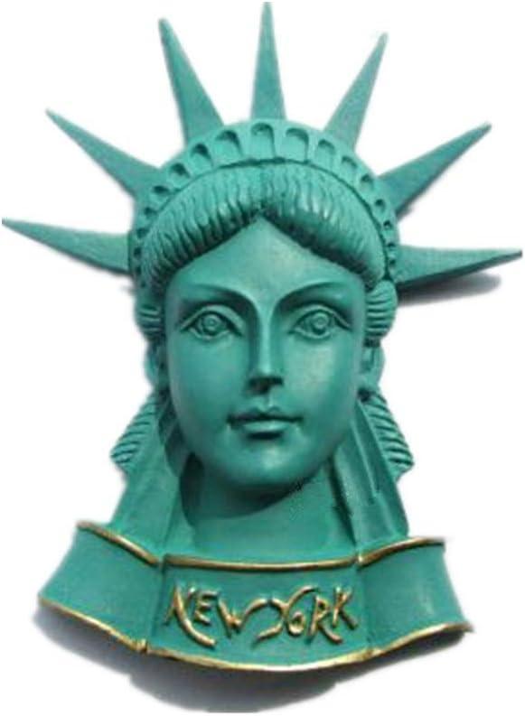 Bella 3D Magnet Frigo Aimant Frigo Aimant R/éfrig/érateur D/écor Voyage Vacances Souvenir de /États-Unis US New York Statue de la Libert/é Fridge Magnet Sticker
