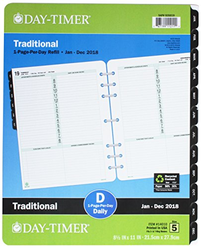 Day-Timer 2014 Classic Folio-Size One-Page-Per-Day Refill...
