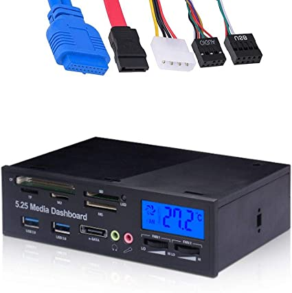 "5.25/"" Internal eSATA SATA USB 3.0 Desktop PC Front Panel Media Dashboard 3"