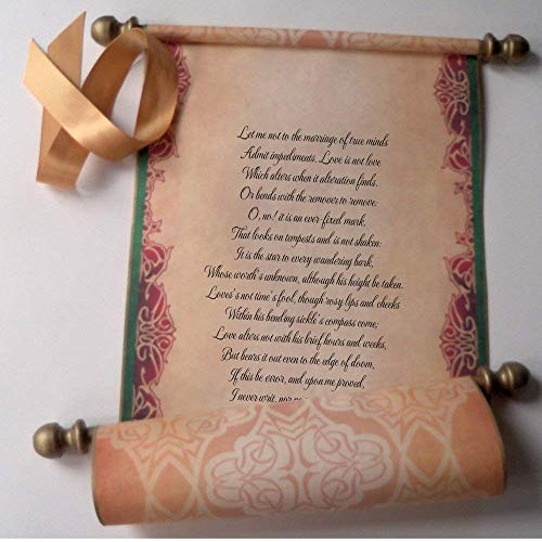 - Wide decorative custom printed scroll, 8x17