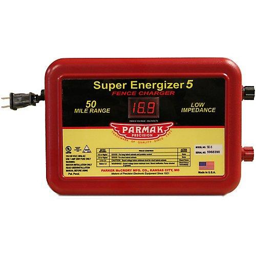 Parmak Super Energizer 5 Low Impedance 110/120 Volt 50 Mile...