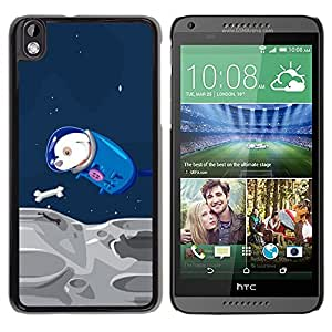 LECELL -- Funda protectora / Cubierta / Piel For HTC DESIRE 816 -- Funny Flying Space Dog --