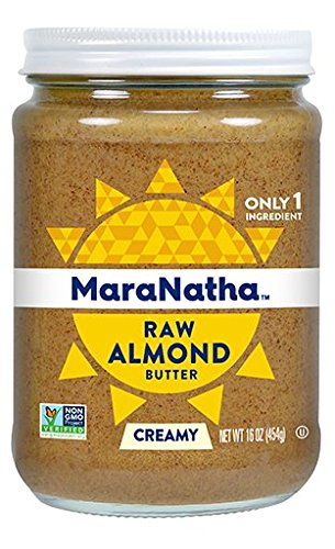 Maranatha Creamy Raw Almond Butter 16 oz Glass Jar - Single Pack