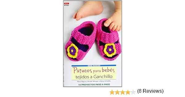 f8be59dd7 Crea Con Patrones Serie Patucos 1. Patucos Para Bebés Tejidos A Ganchillo Cp  - Serie Ganchillo drac  Amazon.es  Marina-Regina Almeyer