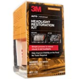 3M Headlight Restoration Kit, Simple Process to Restore Cloudy & Dull Headlights, Hand Application, 1 Kit