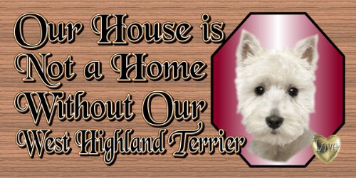 GiggleSticks West Highland Terrier - Westie Sign
