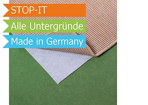 Primaflor® Teppichunterlage Stop-It - Premiumqualität hergestellt in Deutschland - Weiß - Für alle Untergrunde - Anti Rutsch Unterlage - Teppich Stop - 1,20m x 1,80m