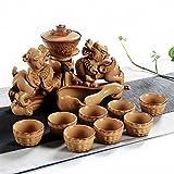 lazy teapot - THJ Household Ceramic Lazy Tea Creative 貔貅 Teapot Cup Set Semi-Automatic Kung Fu Tea Set,B