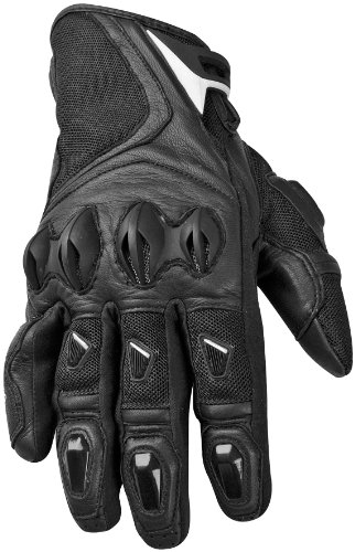 2014 Speed And Strength Trial By Fire Leather-Mesh Motorcycle Gloves - Black - Large