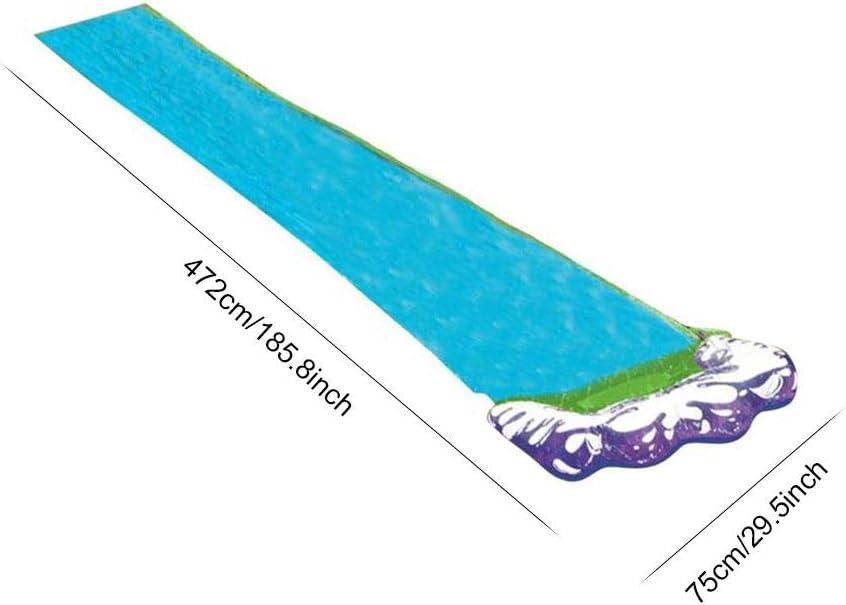 nologo Water Slides for Garden Single Water Slip and Slide Water Slide for Children Outdoors Lawn Backyard