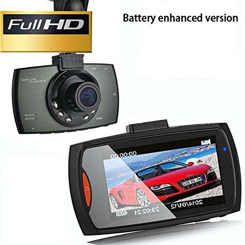 Grabador de conducci/ón de Video de veh/ículo 1080P con LG LCD de 2.4 Pulgadas Cargador de Coche USB En Car Dash CAM
