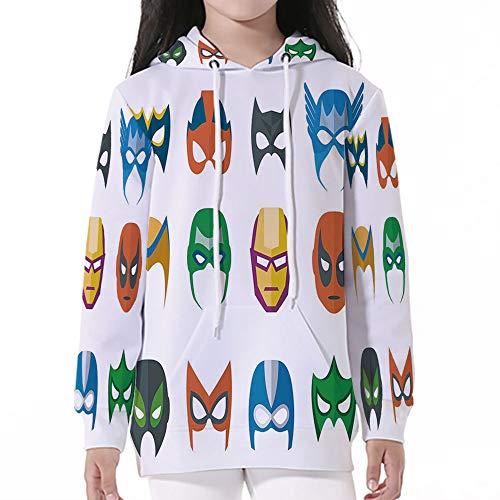Cotton Pullover Hoodies,Superhero,Hero Mask Female Male Costume Power Justice Pe]()