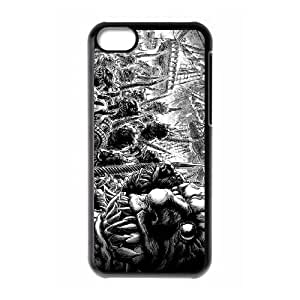 monsters drawing black and white iPhone 5c Cell Phone Case Black xlb2-019301