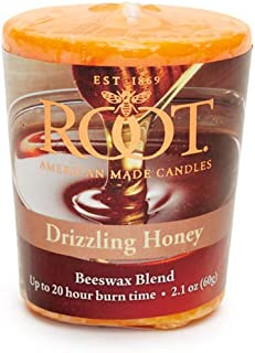 product image for Root Candles 20-Hour Scented Beeswax Blend Votive Candles, 18-Count, Drizzling Honey