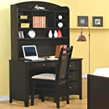 Phoenix Computer Desk with Hutch and Chair by Coaster Furniture