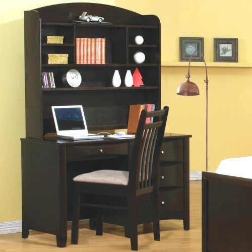Phoenix Computer Desk with Hutch and Chair by Coaster Furniture by Coaster Home Furnishings