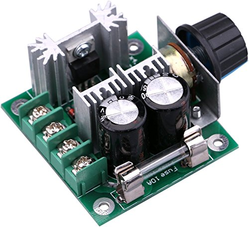 Yeeco DC Motor Speed Controller 10V-40V 10A PWM Controller DC 12V 24V 36V Variable Volt Regulator Cooling Fans Dimmer Governor Stepless Motor Speed Control Regulator with Reverse Polarity Protection