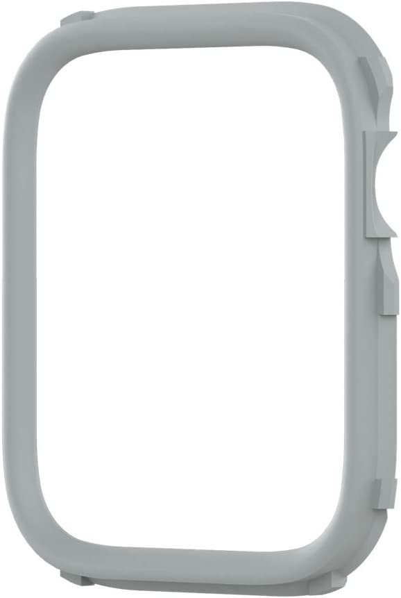 RhinoShield CrashGuard NX Extra Rim [ONLY] Compatible with Apple Watch SE [44mm] & Series 6/5 / 4 [44mm] & Series 3/2/1 [42mm] | Additional Accessory for RhinoShield Apple Watch Case - Platinum Grey