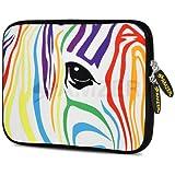 Amzer 7.75-Inch Designer Neoprene Sleeve Case Cover Pouch for Tablet, eBook and Netbook - Zebra Stripes (AMZ5209077)