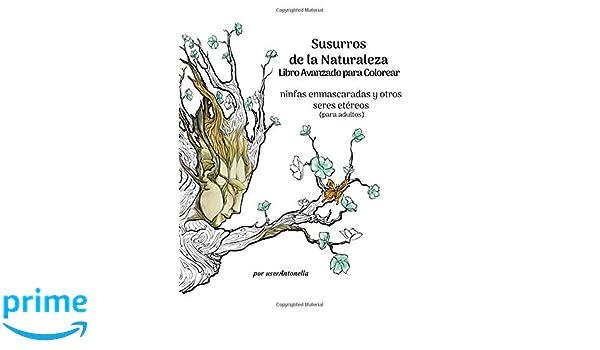 Susurros de la Naturaleza Libro Avanzado para Colorear: ninfas ...