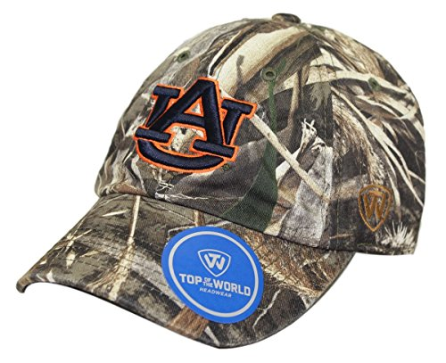 (Top of the World Auburn Tigers Crew Max Realtree Camo Adjustable Hat/Cap Sizes 6 7/8-8)