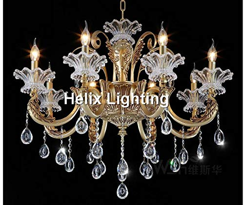 New Arrival Bronze Finished Antique Crystal Chandelier Lingting Luxury Brass Crystal Lamp Luster AC - Chrome 8l Crystal Chandelier