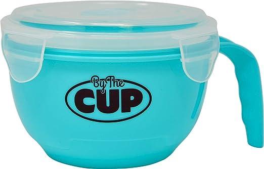 Amazon.com: By The Cup - Cuenco para microondas con tapa de ...