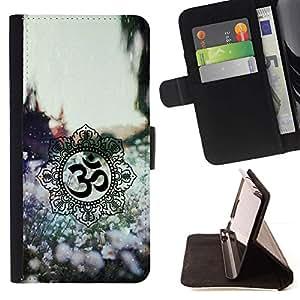 Momo Phone Case / Flip Funda de Cuero Case Cover - Símbolos de primavera Flores - Sony Xperia M4 Aqua