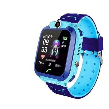 MUXAN Reloj para niños GPS Smartwatch Reloj de Pulsera Inteligente Resistente al Agua IP67 con SOS Reloj Despertador Reloj Digital Cámara Antorcha ...