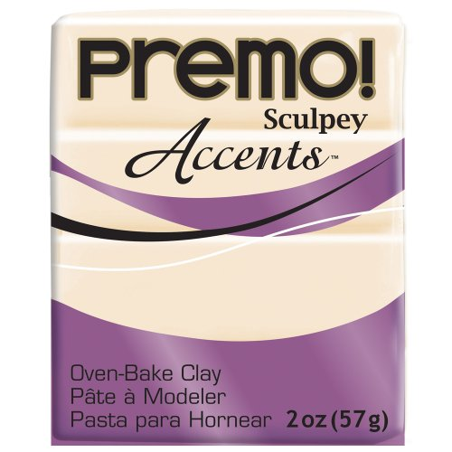 - Sculpey PE022-5310 Polyform Premo Accents Sculpey Polymer Clay, 2-Ounce, Translucent