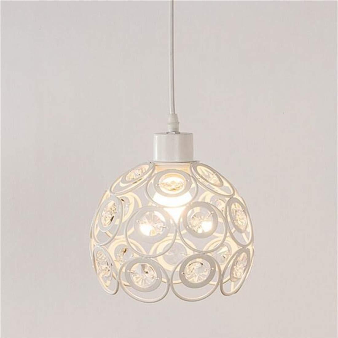 HBLJ Lights Minimalist Single Head LED Lampe Kronleuchter Kristall Deckenleuchte Weiße Farbe Eisen [Energieklasse A +]
