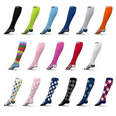 Go2 Compression Socks for Women and Men Athletic Running Socks for Nurses Medical Graduated Nursing Compression Socks for Travel Running Sports Socks!! by Go2Buy Online